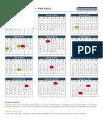 Calendario Laboral 2019 Paisvasco