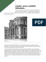 Hitler Je Naredio- Prvo Uništiti Narodnu Biblioteku