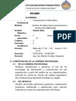 Programación Curricular 2018-I (CI)LUCHO