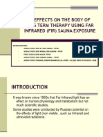 Effects on the Body of Long Term Therapy Using Far Infrared Sauna Exposure