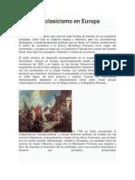 Neoclasicismo en Europa