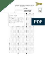 Bubble Answer Sheet