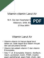 Vitamin-Vitamin Larut Air