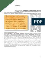 Alle Origini Della Lingua Italiana - Lezione Trecanni