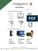 English Assessment 2nd Grade 1