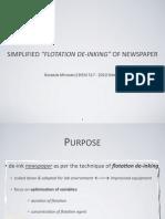 "Simplified (undergraduate lab-scale) ""Flotation de-inking"" of newspaper print"