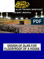 Design of Roof Slab