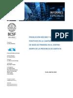 MAÍZ de PRIMERA 2018-2019 Rendimiento y Resultado Económico
