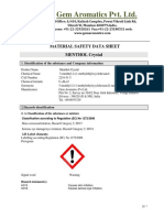 MSDS Menthol Cry