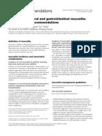MUCOSITIS - ESMO Clinical Recommendations