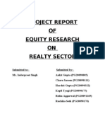 Introduction, Products, Brands, Services & Segmentation of Realty Sector
