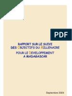 Rapport sur le Suivi des OMD à Madagascar, Septembre 2004