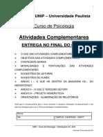 Manual de Atividades Complementares - Psicologia 2016 - Entrega No Final Do Curso