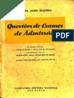 QUESTÕES DE EXAMES DE ADMISSÃO - 2ªed., 1956..pdf