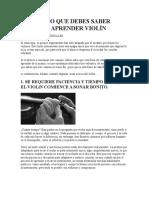ANTES DE TOCAR VIOLIN