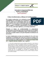 Estabilidad Laboral Reforzada 1. Bases Constitucionales