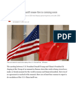 Why a US-China Tariff Cease-fire is Coming Soon