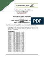 Estabilidad Laboral Reforzada 1.3. Constitucion Art. 16