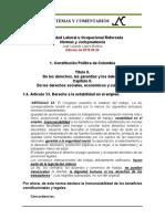 Estabilidad Laboral Reforzada 1.6. Constitucion Art. 53