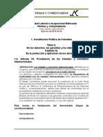 Estabilidad Laboral Reforzada 1.9. Constitucion Art. 93