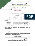 Estabilidad Laboral Reforzada 1.10. Constitucion Art. 94