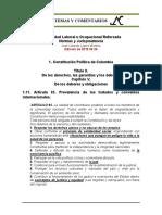 Estabilidad Laboral Reforzada 1.11. Constitucion Art. 95