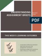 Week 2- PPT- Business - Understanding Assignments