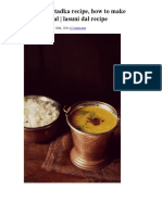 Lasooni Dal Tadka Recipe