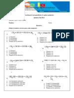 Cuestionario #1. 3ro BGU Primer Quimestre Química