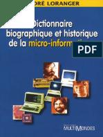 Dictionnaire Biographique Et Historique de La Micro-Informatique - MultiMondes