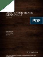 ARSITEKTUR TROPIS NUSANTARA