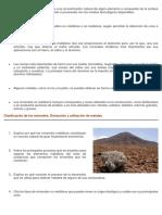 Un Recurso Mineral o Mena Es Una Concentración Natural de Algún Elemento o Compuesto de La Corteza Terrestre