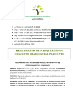 Reglamento Parqueaderos Anexo Al Manual de Convivencia
