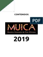 CONTENIDOS - MUICA 2019