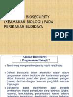 Penerapan Biosecurity Pada Perikanan Budidaya