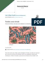 Timidez Como Virtude - 03-09-2018 - Luiz Felipe Pondé - Folha