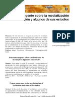 Panorama Urgente Sobre La Mediatizacion