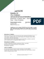 January 2002 QP - S2 Edexcel