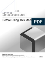 IRADV 4200 Srs 4251 4245 4235 4225 Before Using This Machine Guide