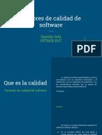 Factores de Calidad de Software