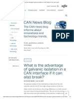 What is the Advantage of Galvanic Isolation in a CAN Interface if It Can Also Break