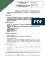 Procedimiento de Historia Clinica Ocupacional 2016