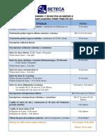 Calendario Anual Oficial Desde Registro 2019