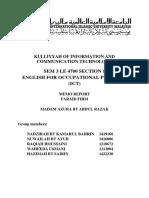 Memo Report on Faraid Firm