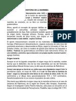 Historia de La Marimba