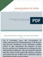 Demonetization in India