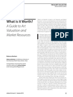 A Guide to Art Valution and Market Resources