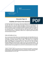 SMART Disability and Trauma in the Classroom Setting