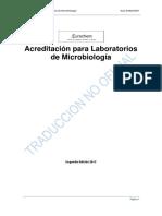 EURACHEM Acreditacion Para Microbiologia INCERTIDUMBRE - Traducido