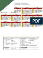 Calendar i o Excel 2019